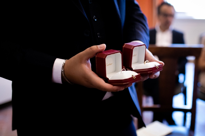 Wedding rings for a civil wedding in Montepulciano - wedding planner Siena