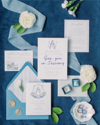 Destination wedding stationery - wedding planner tuscany