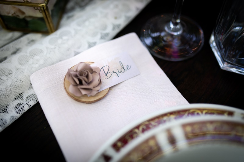 Boho style place card bride - wedding planner siena