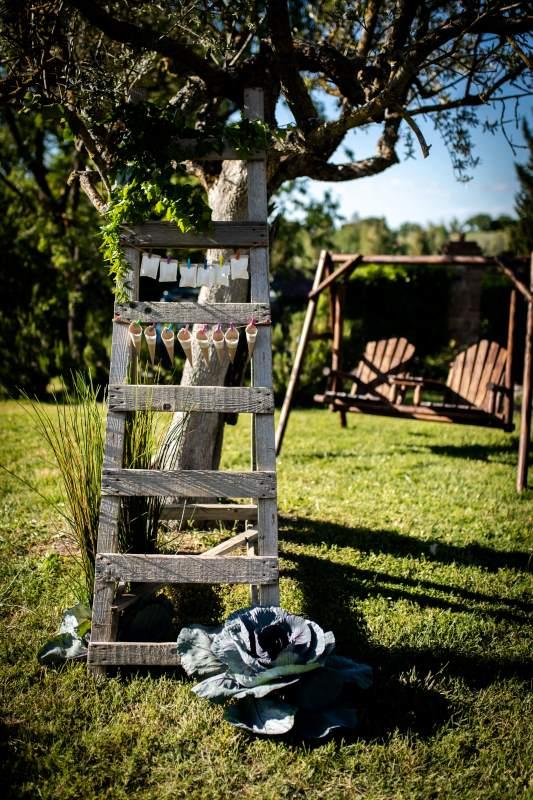 Boho style wedding decorations - wedding planner siena
