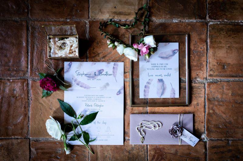 Boho style wedding stationery - wedding planner siena