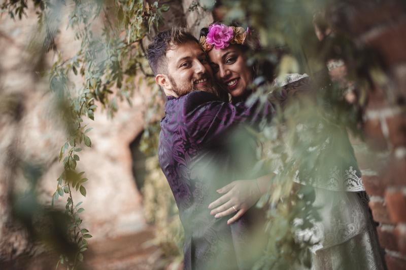 Wedding couple portrait in Siena Tuscany