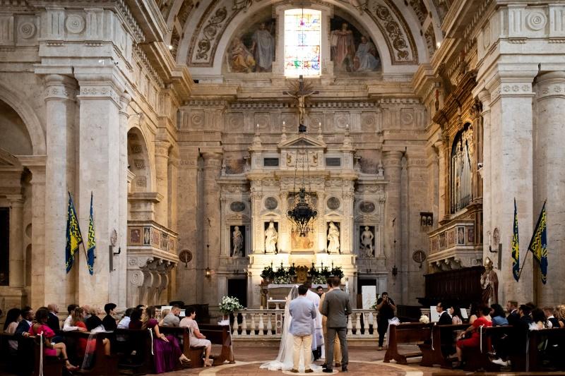 Chrurch wedding in San Biagio Montepulciano Tuscany