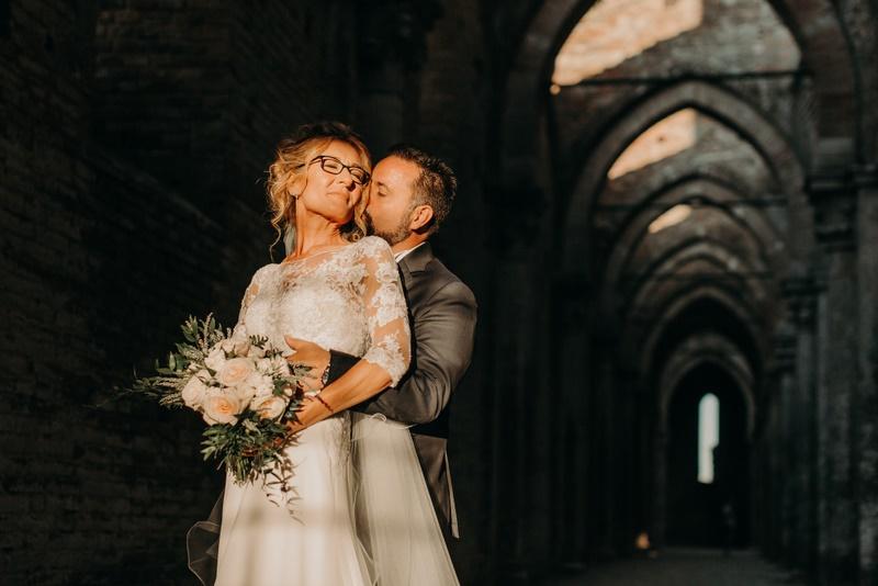Wedding in San Galgano Abbey Siena Tuscany