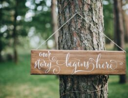 Boho wedding sign ceremony is here