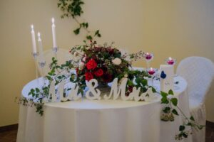 Bride and groom table - wedding planner tuscany